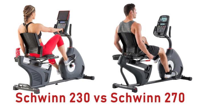 Schwinn 270 vs 230 Recumbent Bikes